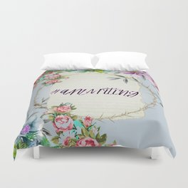 #Amwriting Floral Quote Duvet Cover
