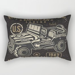 Vintage American Jeep Army Rectangular Pillow