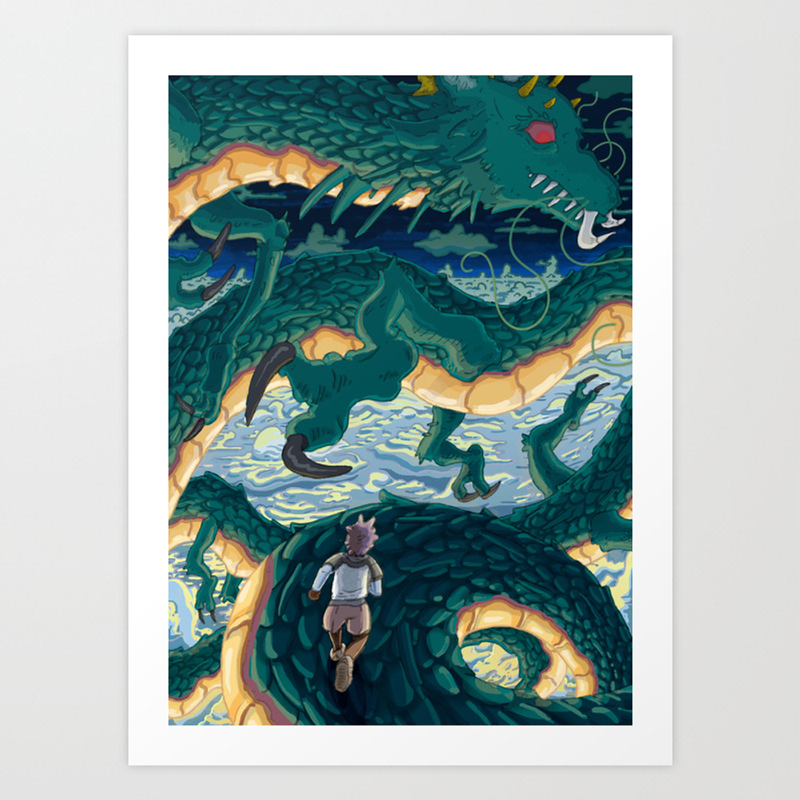 Dragon Runner Art Print by Studio-rise PRN8937351