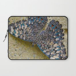 Turquoise and Sand Butterfly by Teresa Thompson Laptop Sleeve