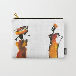 Malaika and Zeita dressing fire flames Carry-All Pouch