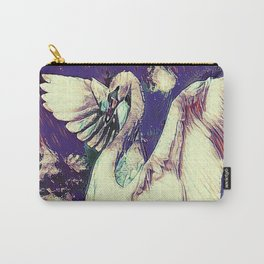 WHITE SWAN  PURPLE &  PINKISH  MODERN  WATER DESIGN Carry-All Pouch