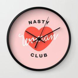 Nasty Woman Club Wall Clock