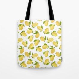 Watercolor lemon pattern Tote Bag