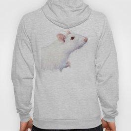 White Rat Watercolor Albino Rat Animal Hoody