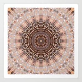 Mandala romantic pink Art Print