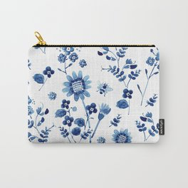 Spring wild flowers & Bee Carry-All Pouch