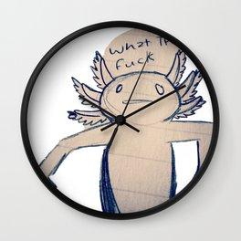 WTF Axolotl Wall Clock