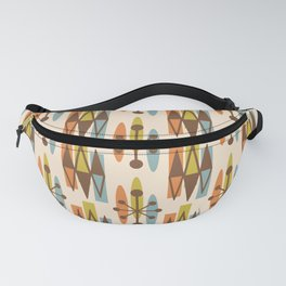 Mid Century Modern Atomic Triangles 334 Fanny Pack