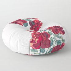 Red Roses Floor Pillow