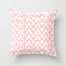 Sun & Mountains - Mid Century Modern Geometric Soft Coral Throw Pillow