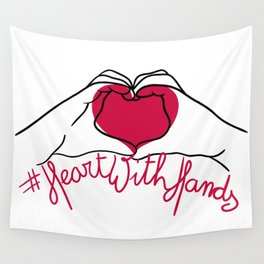 #heartwithhands Wall Tapestry