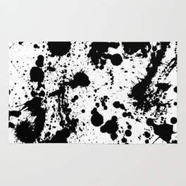 Ink spattered all over - Pattern #society6 #lifestyle Rug