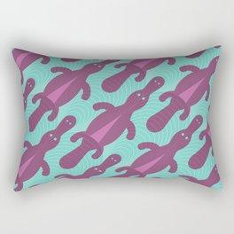 Platypus Convention - aqua and violet Rectangular Pillow