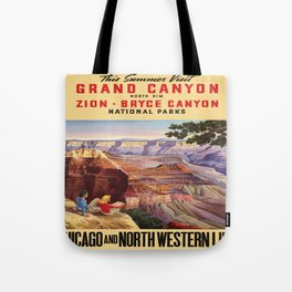 Vintage poster - Grand Canyon Tote Bag