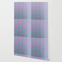 Mermaid Princess Glitter Scales Glam #1 #shiny #stripes #decor #art #society6 Wallpaper