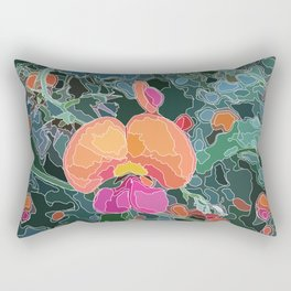 Coral Vine - Botanicals - Abstract Line Art Rectangular Pillow
