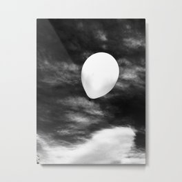 Floating Balloon Metal Print