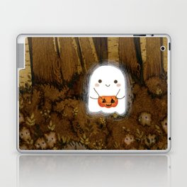 Little ghost and pumpkin Laptop & iPad Skin