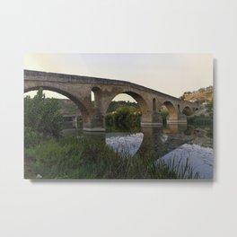 Mediaeval Bridge Metal Print