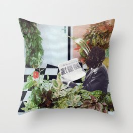 JAM MAN Collage Throw Pillow