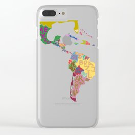 Map. Mapa. Carte. Dos! Clear iPhone Case