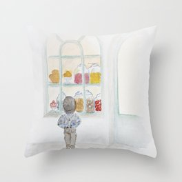 La vitrine Throw Pillow