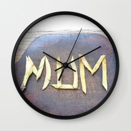 Mother's Day design with banana skin. Wall Clock