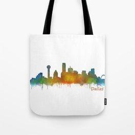 Dallas Texas City Skyline watercolor v02 Tote Bag