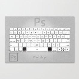 Photoshop Keyboard Shortcuts Brushed Metal Cmd Canvas Print