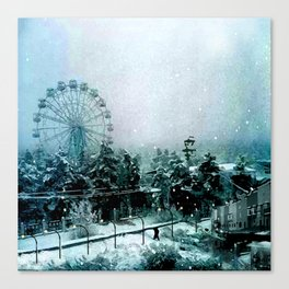 Cold Forest Playground Canvas Print