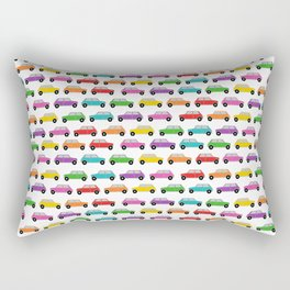 Vintage Mini Cars in rainbow colors Rectangular Pillow