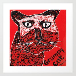 Mean kitty Art Print