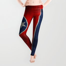 State flag of Tennessee - Vintage retro style Leggings
