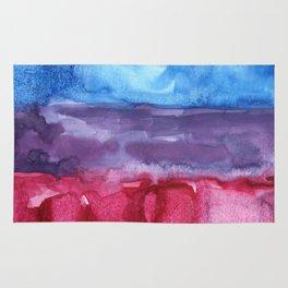 bisexual watercolor flag Rug
