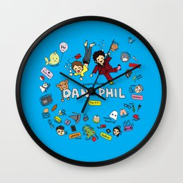 The Vortex of Everything Dan and Phil Wall Clock
