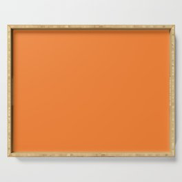 Tangerine - Solid Color Collection Serving Tray