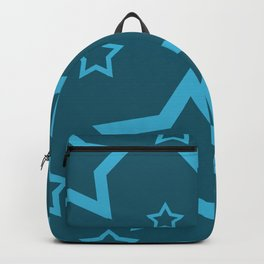 Stars turquoise color design Backpack