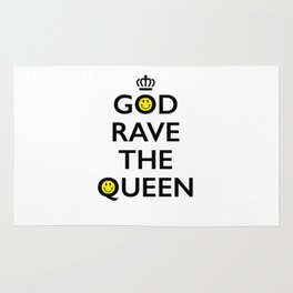 GOD RAVE THE QUEEN Rug