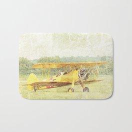 Take Off Antique Biplane Bath Mat