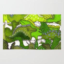 Green Dinosaur Gradient Rug