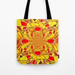 RED & YELLOW GEOMETRICAL-OPTICAL ART Tote Bag