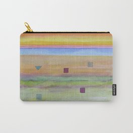 Romantic Landscape combined with Geometric Elements Carry-All Pouch
