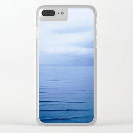 Fireside Blue Clear iPhone Case