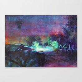 Neontubes & wilderness in Saigon river Canvas Print