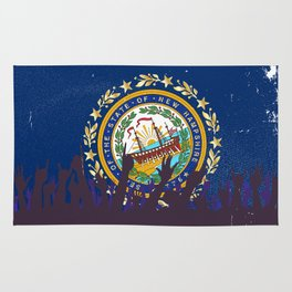 New Hampshire State Flag with Audience Rug