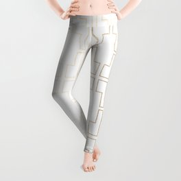 Simply Mid-Century in White Gold Sands Leggings