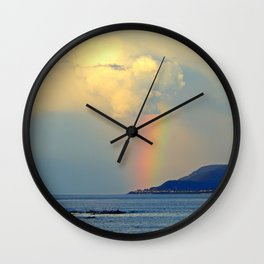 Storm Drops a Rainbow onto Village Wall Clock