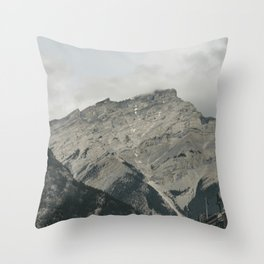 Downtown Banff Throw Pillow