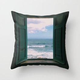Atlantic Morning Throw Pillow